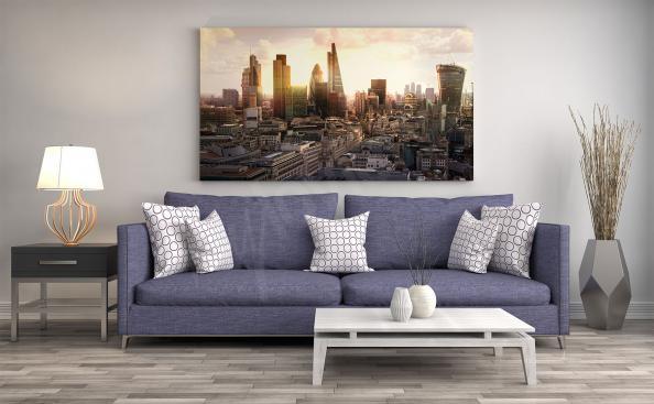 Obraz słoneczna panorama Londynu