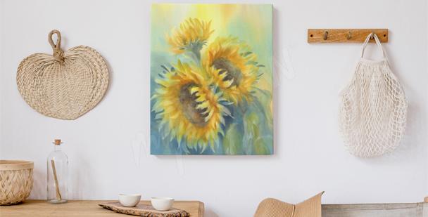 Obraz słonecznik do sypialni