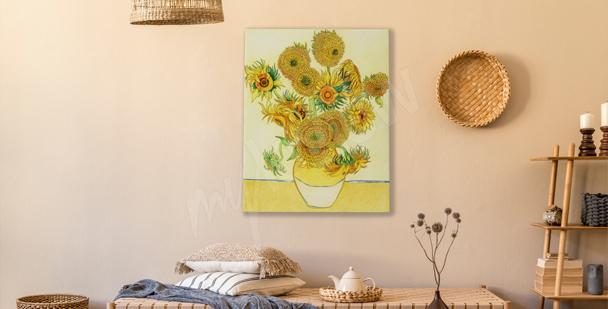 Obraz słoneczniki w środku lata