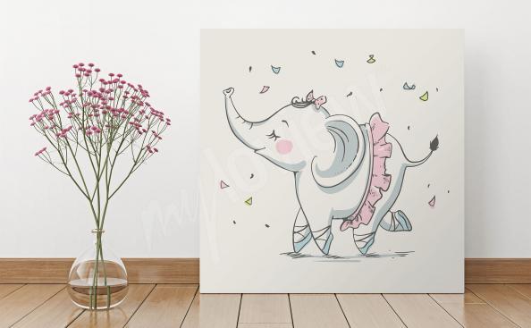 Obraz słonik do pokoju dziecięcego
