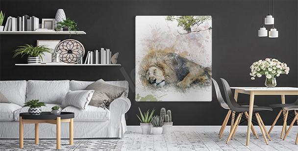 Obraz z lwem do przedpokoju