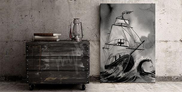 Obraz statek na morzu