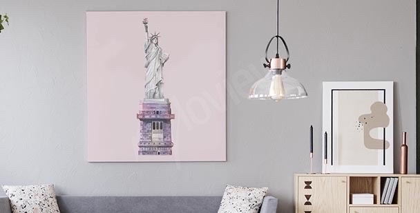 Obraz Nowy Jork kolorowe wieżowce