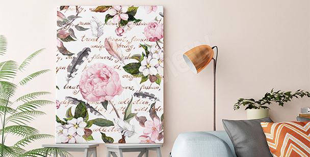 Obraz styl romantyczny do salonu