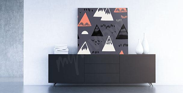 Obraz styl skandynawski góry