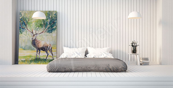 Obraz styl skandynawski jeleń