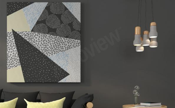 Obraz styl skandynawski motyw geometryczny