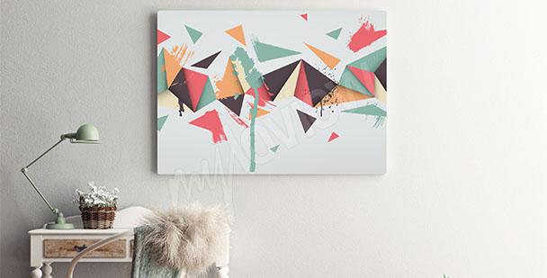 Obraz styl skandynawski trójkąty