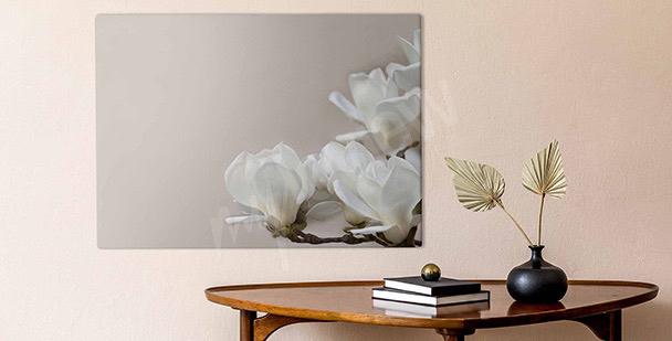 Obraz subtelne kwiaty