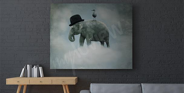 Obraz surrealistyczny słoń
