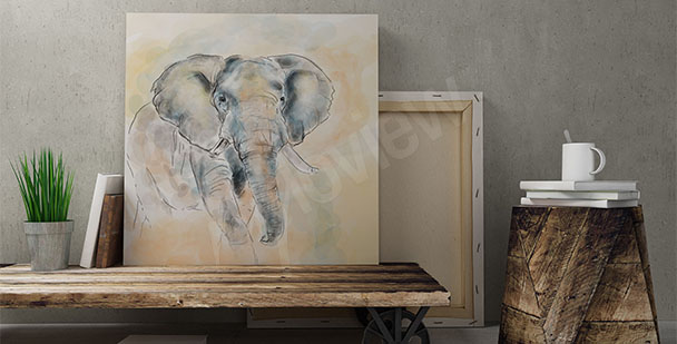 Obraz sylwetka słonia