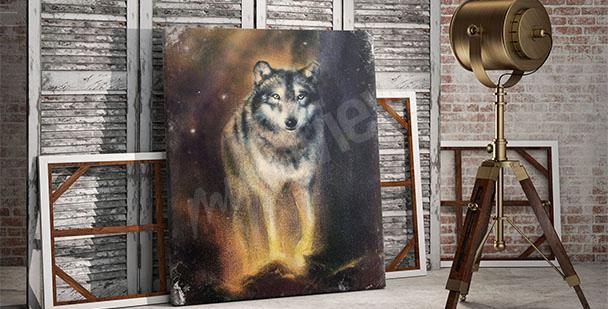 Obraz sylwetka wilka