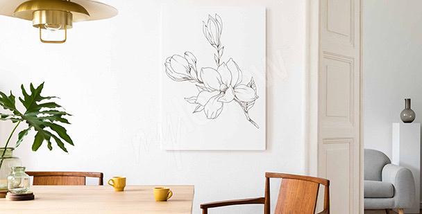 Obraz pojedynczy kwiat magnolii