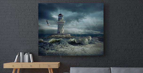 Obraz sztorm na morzu