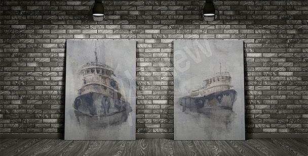 Obraz tajemnicze statki