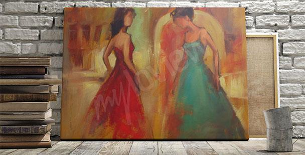 Obraz tańczące kobiety malarstwo