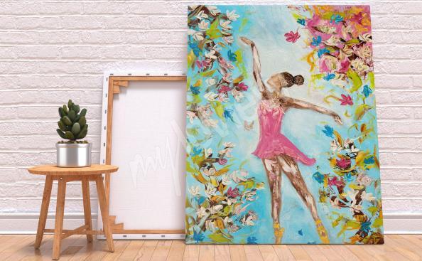 Obraz taniec i kwiaty