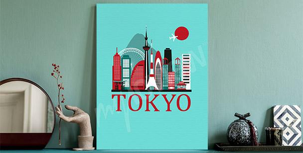Obraz Tokio i panorama miasta