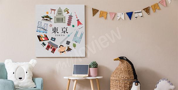 Obraz Tokio i symbole