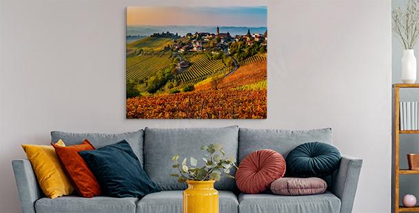 Obraz Toskania w ciepłych barwach