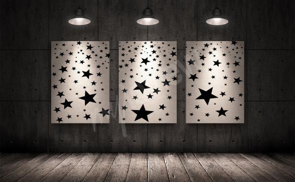 Obraz tryptyk z gwiazdami