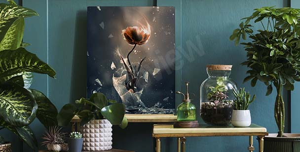 Obraz tulipan w wazonie