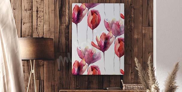 Obraz tulipan styl minimalistyczny