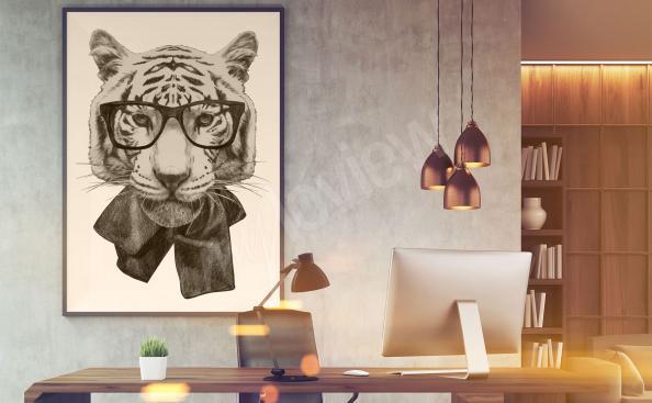 Obraz tygrys do pokoju nastolatka