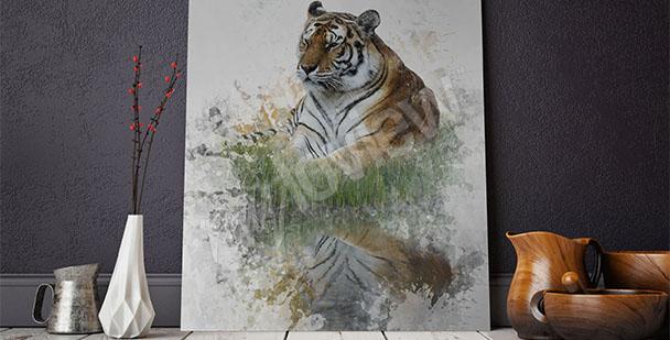 Obraz tygrys do przedpokoju
