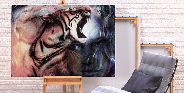 Obraz tygrys kolory
