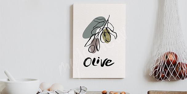 Obraz typografia z oliwką