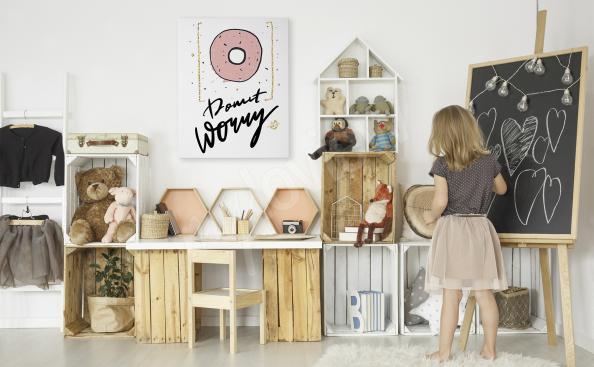 Obraz typograficzny do pokoju dziewczynki
