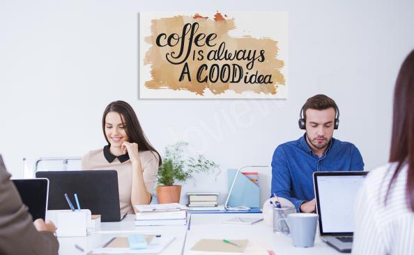 Obraz typograficzny z motywem kawy