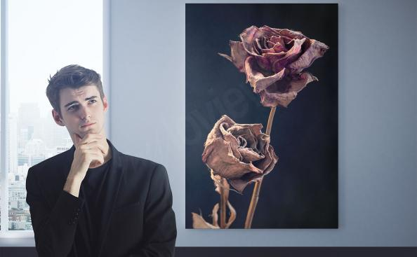 Obraz uschnięte róże