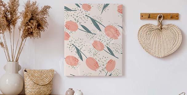 Obraz tulipany do przedpokoju