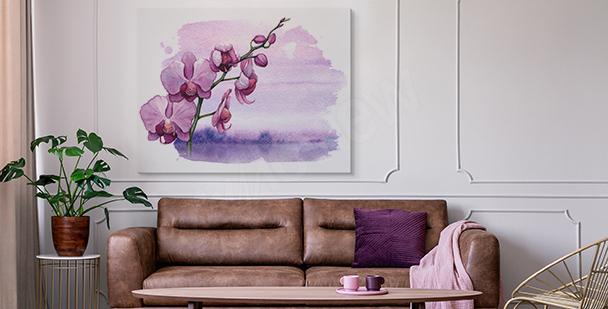 Obraz orchidea i tafla wody