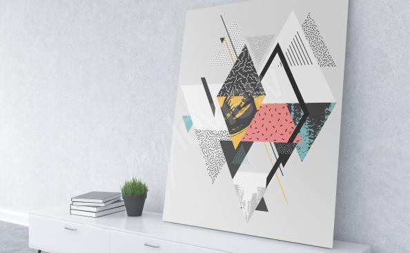 Obraz w stylu skandynawskim geometria