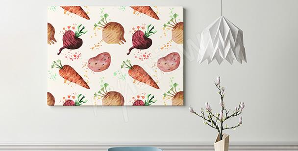 Obraz warzywa korzeniowe
