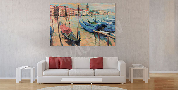 Obraz weneckie łodzie