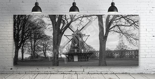 Obraz wiatrak w Danii