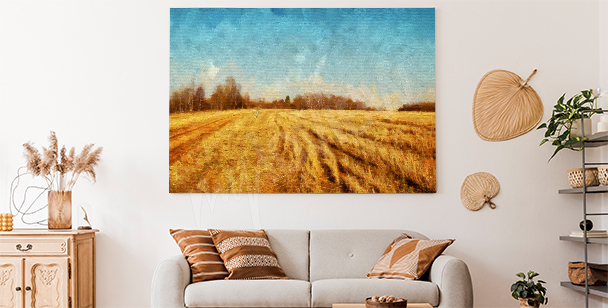 Obraz wiejski krajobraz