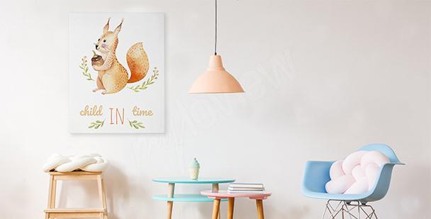 Obraz wiewiórka w stylu scandi