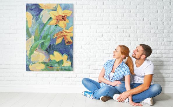 Obraz wiosenne żonkile dla dzieci