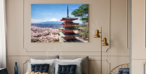 Obraz wiosna w Japonii
