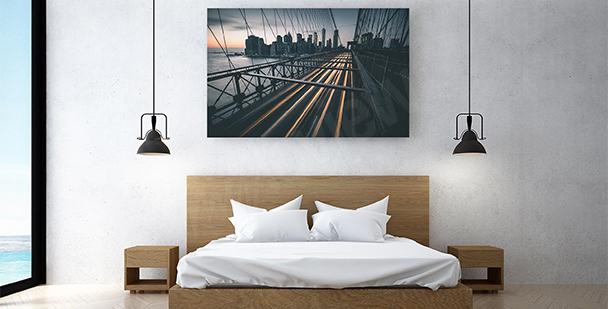 Obraz wiszący most w Nowym Jorku