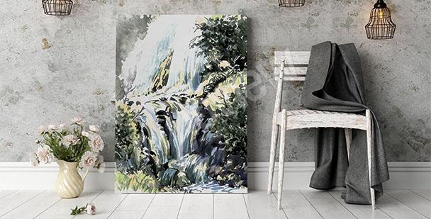 Obraz wodospad do przedpokoju