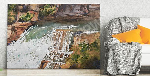 Obraz wodospad kaskadowy