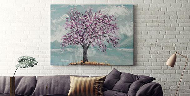 Obraz z drzewem do salonu
