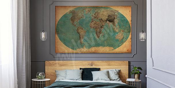 Obraz z geograficznym motywem