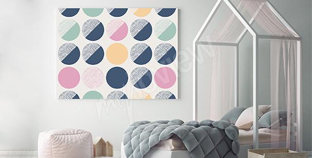 Obraz z kolorowymi grochami